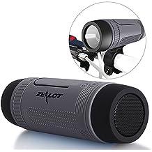 Altavoces Inalámbricos ZEALOT impermeable S1 CSR4.0 Altavoces Bluetooth portátiles IP55 a prueba de golpes Anti-polvo estéreo Boombox 5en1 combo- 4000mAh Banco de la Energía Externa del Cargador de Batería / LED de luz de la Linterna / Micro SD Tarjeta de Reproductor de Música / Hi-Fi Micrófono Libre de la Mano de Llamadas / Entrada de Audio Upto 24 Horas de Reproducción de Larga Duración de los Altavoces al Aire Libre - Gris