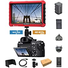 Lilliput A7s 7-inch 1920x1200 HD IPS Screen 500cd/m2 Camera Field Monitor 4K HDMI Input output Video For DSLR Mirrorless Camera SONY A7 A7R A7S II A6300 A6500 Panasonic GH4 GH5 Canon 5D Mark IV DJI Ronin M + Battery +Charger