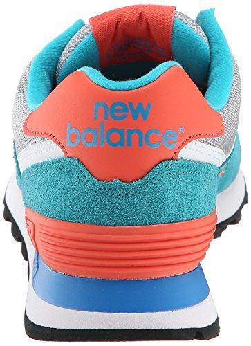 New Balance WL574 B, Baskets mode femme Bleu (blue Atoll/orange)