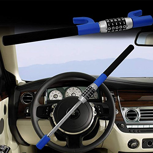 Steering Wheel Lock Lenkradsperre - Skalierbare Heavy Duty Fahrzeugsicherheit Diebstahlsicherung Keyless 5 Digit Coded Kombinationsschloss - Für Universal Car Truck Van SUV