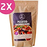 Glutenfrei Vegane Backmischung für Pizzateig zum selber backen | 100% glutenfrei | laktosefrei | Doppelpack 2x 1000g | Szafi Free