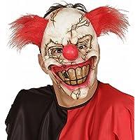 Widmann 00840 - Maschera Mezzo Viso Killer Clown con Capelli, Adulto