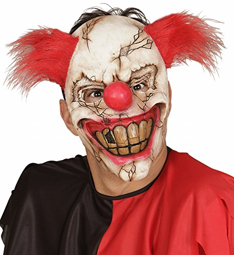 Widmann 00840 - Maske Killer Clown mit (Scary Billig Halloween Masken)