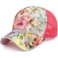 MAOCAP Gorra de béisbol de la Moda del Sombrero de Malla de Primavera y  Verano señoras c6001493783