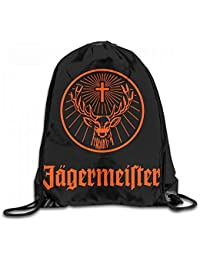 Funny&shirt Jagermeister Logo Custom Drawstring Shoulder Bags Gym Bag Travel Backpack Lightweight