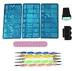 Lifestyle-You® Nail Stamp Plate Nail Art Image Stamping Plates Steel Stamper Scraper Set Nail Art Tools