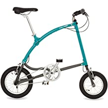 Ossby Arrow Bicicleta Plegable, Unisex Adulto, Turquesa, Talla Única