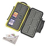 Deyard K020 Wasser und Stossresistentes Speicherkarten-Case: 24 Plätze für 12 SDHC / SDXC Cards und 12 Micro SD Karten - Erneuerter gummiüberzogener Schutz