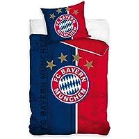 FC Bayern München BMFC171004 Fußball Bettwäsche Football Club Bed Linen 135x200 cm + 70x80 cm