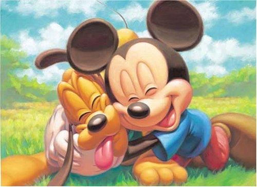 Preisvergleich Produktbild 500 piece Mickey Mouse & Pluto D-500-301 (japan import)