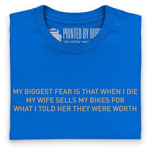 Cycling - Biggest Fear T-Shirt, Herren Royalblau
