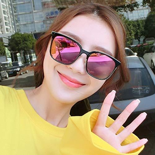 Kamiwwso Runde Flamme Sonnenbrille für Frauen polarisiert (Color : B)