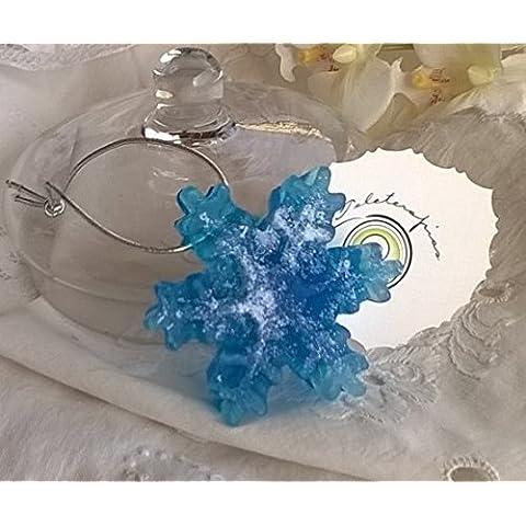 Jabon de Glicerina forma Copo de Nieve aroma Limón(Pack 2 uds)