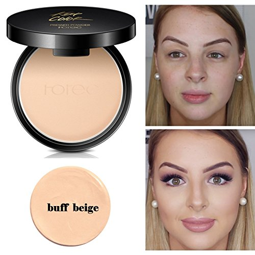 Mineral Pressed Face Powder,ROMANTIC BEAR Sleek foundation Creamy Concealer Base Makeup Powder Foundation Compact Powder (A3)
