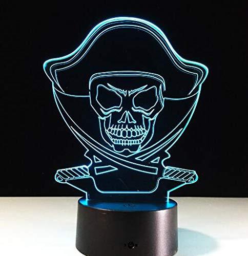cht Ändern Lampe Halloween Schädel Licht Acryl 3D Hologramm Illusion Schreibtischlampe Für Kinder Geschenk ()