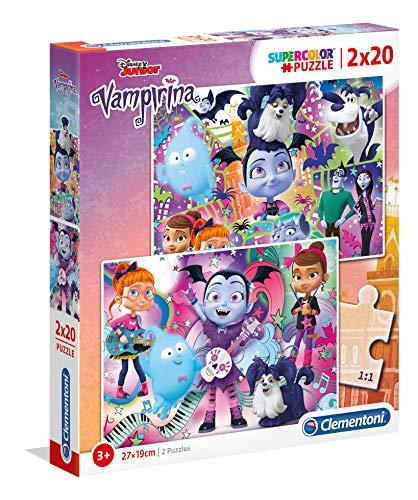 Clementoni 07033 07033-Supercolour Vampirina - Puzzle (2 x 20 Piezas), Multicolor