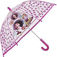 Paraguas Disney Soy Luna de Niña - Paraguas Transparente de Burbuja Resistente antiviento y Largo -