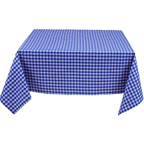 Mantel Rectangular, cuadros 1x 1cm), color azul y blanco, 100% algodón, muchos...