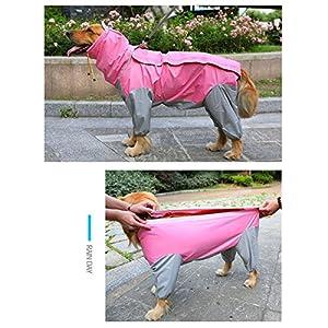 Imperméable pour chien Combinaison imperméable à quatre pattes Chiens de taille moyenne et grande Golden retriever Labrador Imperméable pour gros chien Vêtements imperméables pour animaux de compagnie