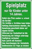 4431. Spielplatzschild Spielplatz nur für Kinder unter 14 Jahren Aluminium geprägt Größe 40,00 cm x 60,00 cm