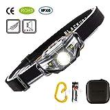 Blackube Run LED Stirnlampe-7 Modi IPX6 Waterproof-Lightweight für Kids Kopflampe Scheinwerfer/Scheinwerfer zum Lesen, Laufen, Camping-Joggen - 1 Batterie inklusive