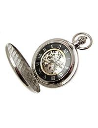 Relojes de bolsillo para hombre, ideal como regalo para hombres y mujeres con cadena
