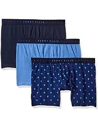 Perry Ellis Men's 3 Pk Cotton Stretch Mosaic Boxer Briefs