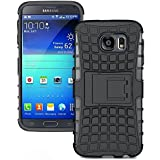 Dream2cool FOR Samsung Galaxy S6 Edge Tough Hybrid Flip Kick Stand Spider Hard Dual Shock Proof Rugged Armor Bumper Back Case Cover For Samsung Galaxy S6 Edge (BLACK)