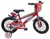 """Disney Bicicletta 14"""" Cars 3, Bambino, Rosso"""