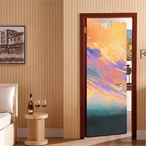 Zxl adsjpy waiting lover boy e distance door sticker adesivi 3d universali carta da parati diy impermeabile murale decalcomania per soggiorno camera da letto
