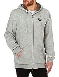 Etnies Hoodies - Etnies E-base Zip Sherpa Hoody - Grey