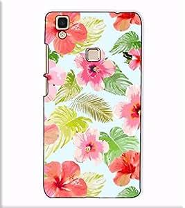 Fuson Designer Back Case Cover for Vivo V3 Max (Hibiscus flower pattern)