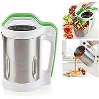Domo DO499BL Cocedor de sopa, 400 W, 1.7 litros, 20 Decibelios, plateado, blanco y verde
