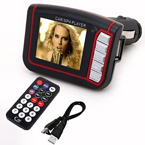 Última MP4 reproductor 1,8 pulgadas LCD inalámbrico transmisor de Radio FM, coche MP3 reproductor, SD tarjeta TF USB disco mando a distancia, Drop Shipping, coche MP3/MP4 reproductor mando a