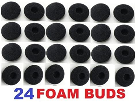 24 Pack Foam Earbud Earpad Ear Bud Pad Replacement Sponge Covers for Earphone, MP3 MP4 Ipod Iphone Itouch Ipad Headsets. Gadgetbrat (Schaumstoff Ohrpolster)