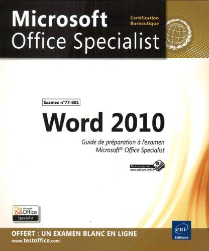 Word 2010 - Préparation à l'examen...