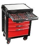 SAM Outillage CPP-200SV Composition 200 outils en modules abs + servante 6 tiroirs, Multicolore
