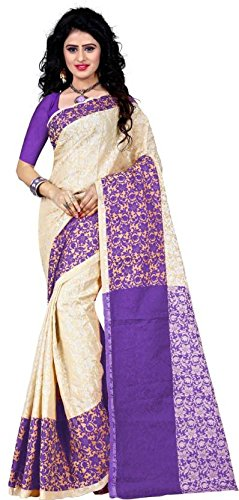 Being Banarasi Cotton With Blouse Piece Saree (BB_Padmavati_Purple_Free Size)