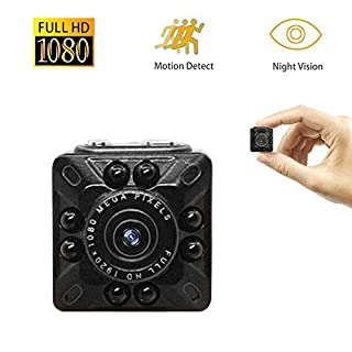 Anviker Mini Spy Camera,1080P&720P HD DV Camera,Portable Tiny Video Camera with Motion Detection&Infrared Night Vision,Small Surveillance Camera for Home Security&Office (Black)