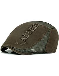 Fansi 1 pcs Unisex Transpirable algodón Boina Cap Retro Cap Sombrero  Ajustable tapón Plana Gorra Octogonal d67447578b5