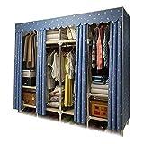 XIAONUA Kleiderschrank Kleiderschrank tragbar, Schrank Speicher-Organisator-System, verdickt Oxford Tuch Stoff Kleiderschrank, Handelsklasse rostfrei,A_66.9x17.7x67.7inch