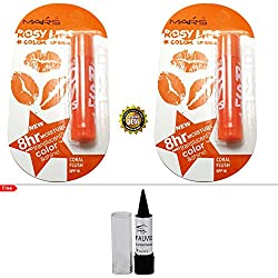 Mars Rosy Lips Color Balm Coral Flush Buy 1 Get 1 Free With Kajal