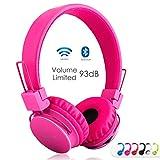 Termichy Bluetooth Kopfhörer Kinder mit 93dB Lautstärkebegrenzung, Faltbare Tragbare Leicht kopfhoerer Kabellos mit Audio Kabel On-Ear Drahtloser Kopfhörer Musik Shareport Eingebautem Mikrofon (Rose)