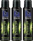 Fa Men - Déodorant - Speedster Fraîcheur Energisante Aérosol 150 ml - Lot de 3