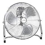 STIER Ventilator, 145W, Bodenventilator in Metall-Optik, 3 Ventilationsstufen, für Innen- und Außen geeignet