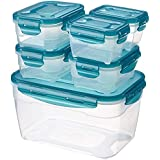 AmazonBasics Food Storage Containers , Set of 6, Multicolor