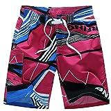 KPILP Herren Boxer Boxershorts Super Bequem Retroshorts Sportswear Unterwäsche Shorts Badehose Quick Dry Beach Surfing Laufen Schwimmen Watershort( Heiß Rosa,3XL