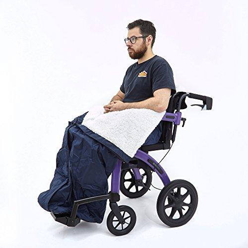 51FHnspmR7L - Ability Superstore - Saco para silla de ruedas (99 x 77 cm)