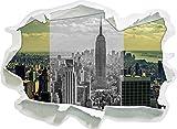 New Yorker Skyline mit Empire State Building schwarz/weiß, Papier 3D-Wandsticker Format: 62x45 cm Wanddekoration 3D-Wandaufkleber Wandtattoo