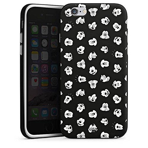Apple iPhone X Silikon Hülle Case Schutzhülle Disney Mickey Mouse Fanartikel Geschenke Silikon Case schwarz / weiß